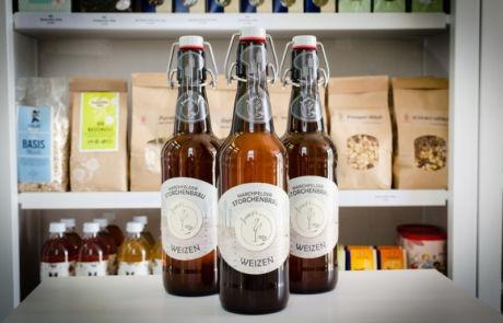 Verschiedene Biere von Storchenbräu im Marchfeld