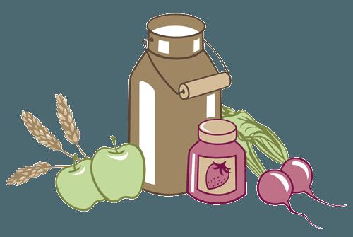 Frische Lebensmittel aus dem Weinviertel und gesunde Bio-Produkte