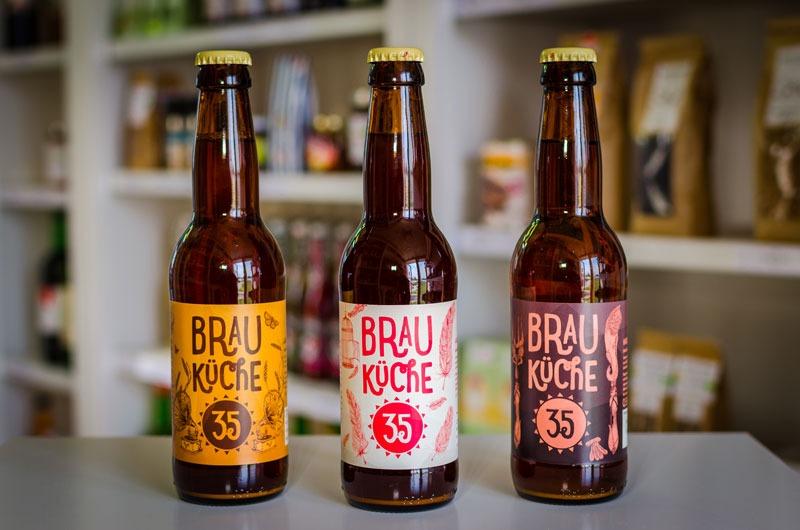 Bio Biere aus der Brauküche 35 bei MoSo-Markt